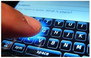 Contoh penggunaan sensor pada layar sentuh telepon genggam