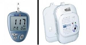 Contoh sensor pendeteksi glukosa (gambar kiri). Contoh sensor pendeteksi gas CO (gambar kanan).