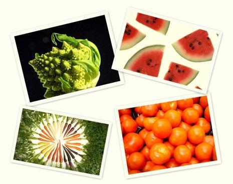 Contoh beberapa sayur dan buah untuk kesehatan mata.