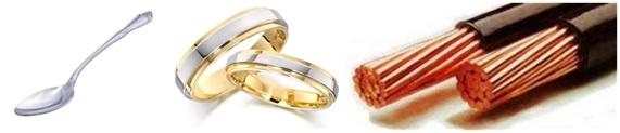 Contoh produk hasil bahan galian/penambangan: aluminium, emas dan tembaga