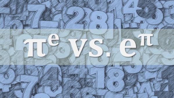 Pi Pangkat Bilangan Euler vs. Bilangan Euler Pangkat Pi