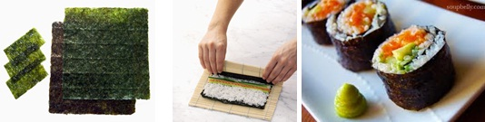 Rumput laut yang banyak digunakan pada makanan jepang seperti Sushi.