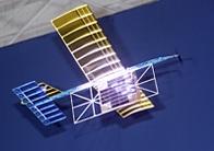 Model pesawat terbang bertenaga laser (proyek NASA).