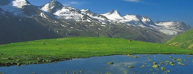 Rangkaian Pegunungan Alpen di Austria.
