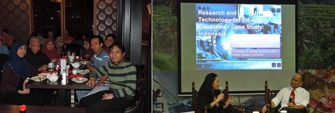 Dialog rekan-rekan PPI Austria dengan Beberapa Tokoh dari Indonesia : a) Prof. Dr. Ing Wardiman Djojonegoro dan b. Bapak Ilham Habibie.