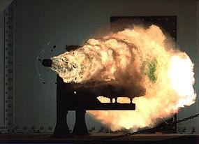 Railgun milik angkatan laut Amerika Serikat. Sumber gambar: Wikipedia.