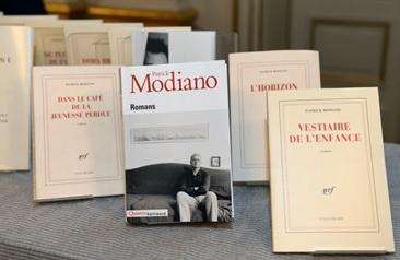 Beberapa karya tulis Modiano (gambar dari sfgate.com).