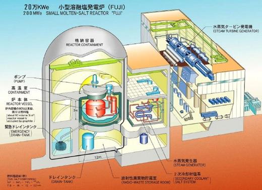Gambaran umum reaktor Fuji.