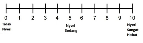 Ilustrasi Numerical Rating Scale.