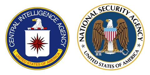 Logo CIA (www.cia.gov) dan NSA (www.nsa.gov).