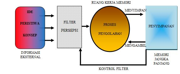 Model pemrosesan informasi Johnstone. Diterjemahkan dari Learning at the Macro Level: The Role of Practical Work. (Tsaparalis, 2009).