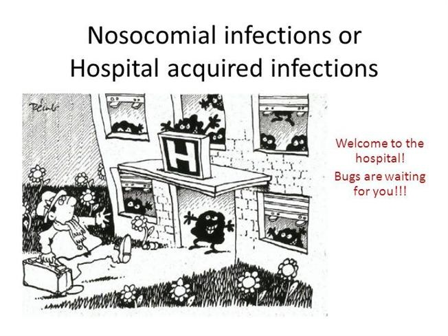 Ilustrasi tentang rumah sakit sebagai tempat terjadinya infeksi nosokomial. Sumber gambar: http://authorstream.s3.amazonaws.com/
