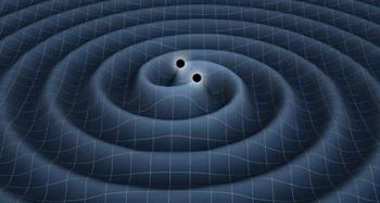 Ilustrasi aktivitas dua benda masif yang menghasilkan gelombang gravitasi. Sumber gambar: space.com