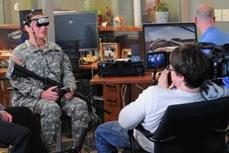 Penggunaan VR untuk terapi prajurit yang mengalami PTSD.