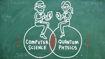 Ilmu seputar prinsip kerja komputer kuantum merupakan irisan sains komputer dan fisika kuantum. Sumber gambar: http://www.cnet.com/news/microsoft-explains-quantum-computing-so-even-you-can-understand/