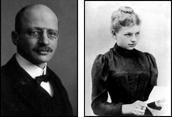 Fritz Haber (kiri) dan Clara Immerwahr (kanan).