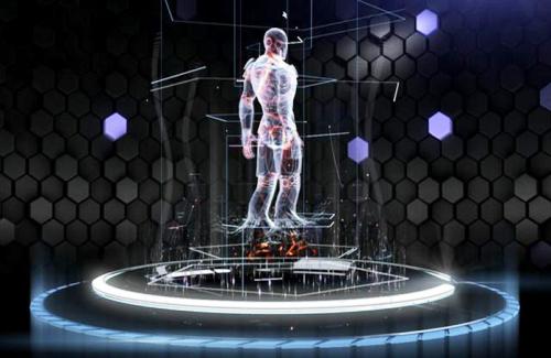 Contoh hologram yang terdapat dalam film Iron Man 3 yang baru diluncurkan tahun 2013 ini. Sumber gambar: http://marvel.com/ironman3
