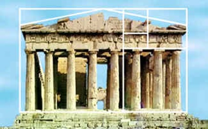 Gedung Parthenon di Yunani.