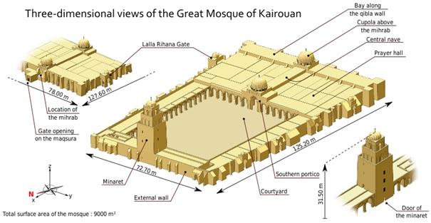 Masjid Uqba (Kairouan) di Tunisia.