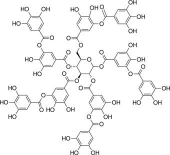 Struktur kimia tanin.