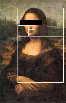 Mona Lisa dan golden rectangle