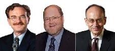 Randy W. Schekman, James E. Rothman, dan Thomas C. Südhof (gambar dari http://nobelprize.org).