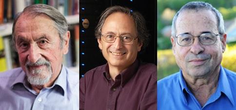 Martin Karplus, Michael Levitt, dan Arieh Warshel, para pemenang hadiah Nobel Kimia 2013. Sumber gambar: www.nobelprize.org
