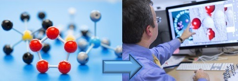 Pemodelan kimia dari model bola dan stik menjadi pemodelan dengan simulasi komputer.